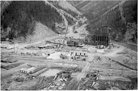 Mine construction in 1981