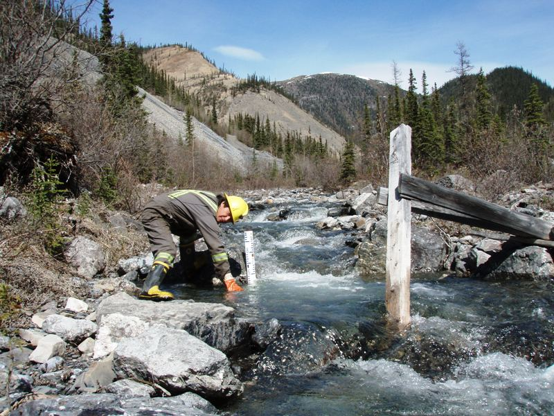Collecting water samples for testing