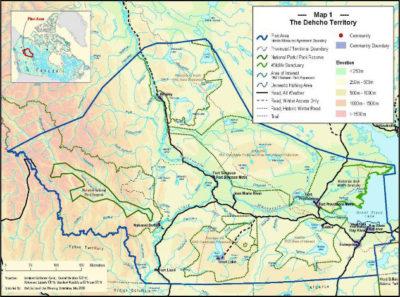 Dehcho Region Map