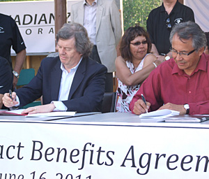 Liidlii Kue First Nation IBA signing ceremony