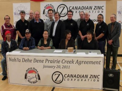 Nahanni Butte Dene Band IBA signing ceremony