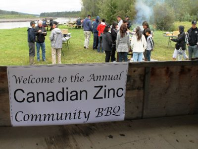 Canadian Zinc Community BBQ in Nahanni Butte
