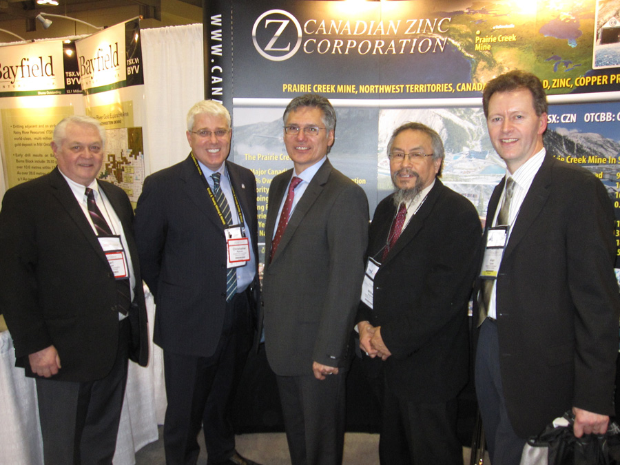Cree Nation Grand Chief and Former National Chief Matthew Coon-Come visits NZC's booth at PDAC